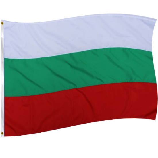 Знаме на България с лента, среден размер.