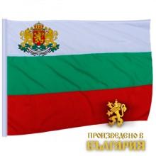 Знаме на България с герб и джоб 150х90 см.